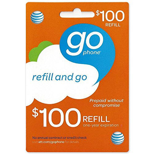$100 At&T Go Phone Refill Card - Shipped By Amazon