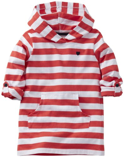 Carter'S Girls' Hooded Striped Tunic (Toddler/Kids) - Stripe - 6X front-159953