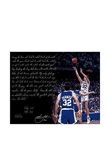 Steiner Sports Memorabilia Christian Laettner Autographed The Shot Story Photo