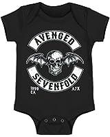 Avenged Sevenfold Deathbat Logo Baby Romper