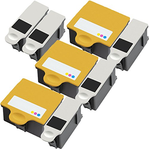 3 Pack + 2 Black of Total 8 Inktoneram® Replacement ink cartridges for Kodak 10B 10C 10 Ink Cartridges replacement for Kodak 10B Black 10C Color Combo Set 5100 5300 5500 ESP 3 5 7 9 3250 5210 5250 7250 9250 ESP Office 6150 HERO 7.1 9.1 OFFICE HERO 6.1