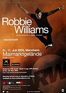 Robbie Williams Escapology 2003 - Original Konzertposter, Konzertplakat