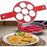 Evana New Perfect Pancakes Silicone Flippin' Fantastic Non-stick Pancake Maker Egg Ring Flip Breakfast Omelets Kitchen Baking Tools