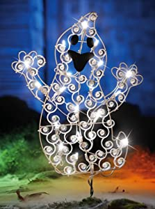Lovable Light Up Ghost Outdoor Halloween Decoration by Collections Etc