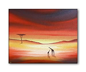 African Giraffes Modern Canvas Art Painting - By SCA ART from SCA ART