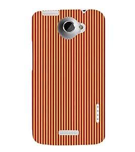 Stripe Pattern 3D Hard Polycarbonate Designer Back Case Cover for HTC One X