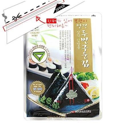 Manjun Food Onigiri Nori Rice Ball Seaweed Wrappers Product of Korea