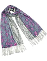 Dahlia Women's 100% Merino Wool Pashmina Scarf - Flower or Butterfly