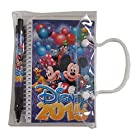 Disney 2015 Mickey & Minnie Mouse Notebook w/Pen-Purple