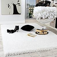 Shaggy Rug / Super Soft High Pile / Rio XXL Carpet / Shaggy Rug in Snow White by PHC