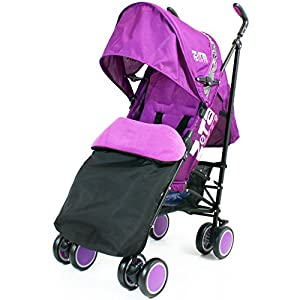 Zeta Citi Stroller Buggy Pushchair - Plum (Complete With Footmuff + Raincover) from Baby Travel