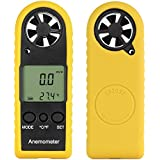 [New Arrival] Proster LCD Digital Wind Speed Scale Gauge Meter Anemometer Thermometer - Handheld Anemometer Measure for Sailing Fishing