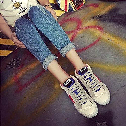 GGH Signore lavoro confortevole slittamento sui fannulloni delle donne scarpe casual Blue,39