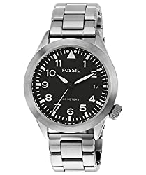Fossil End-of-Season Retro Trav Analog Grey Dial Mens Watch - AM4562