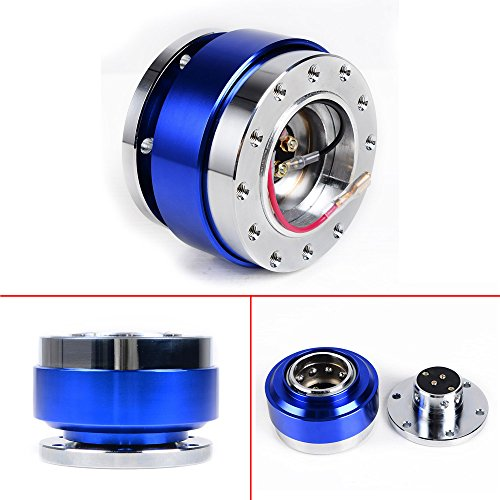 ANZIO Blue JDM Steering Wheel 6 Hole Quick Release Hub Adapter Snap Off Boss Kit (Mazda 323 Steering Wheel compare prices)