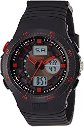 Skmei Analog-Digital Red Dial Mens Watch - 1198BBR