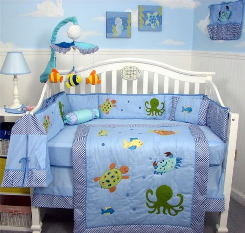 Deals SoHo Sea Life Baby Crib Nursery Bedding Set 10 Pieces