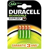 Duracell - Pile Rechargeable - AAAx4 Stay Charged 750 mah (LR03)