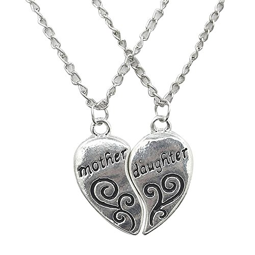 conteverr-1-set-of-2pcs-mother-and-daughter-love-heart-pendants-necklaces-chain-length-about-52cm