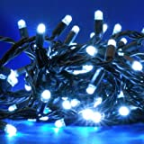 #10: 40 Brilliant White LED Multi Function Solar Powered Outdoor Fairy String Lights