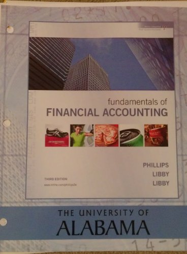 Fundamentals of Financial Accounting (University of Alabama edition)