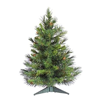 #!Cheap 2' Cheyenne Pine Artificial Christmas Tree with Pine Cones - Unlit