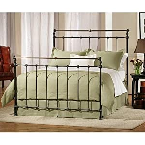 iron brass sleigh bed black by charles p rogers queen headboard furniture. Black Bedroom Furniture Sets. Home Design Ideas