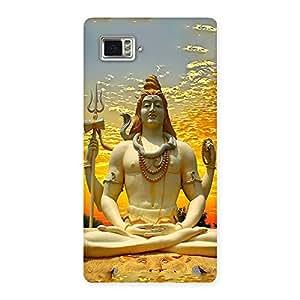 Shiva Samadhi Print Back Case Cover for Vibe Z2 Pro K920