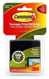 Command Medium Picture-Hanging Strips 12-Picture, Black
