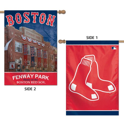 "MLB Boston Red Sox 41146013 2 Sided Vertical Flag, 28"" x 40"""
