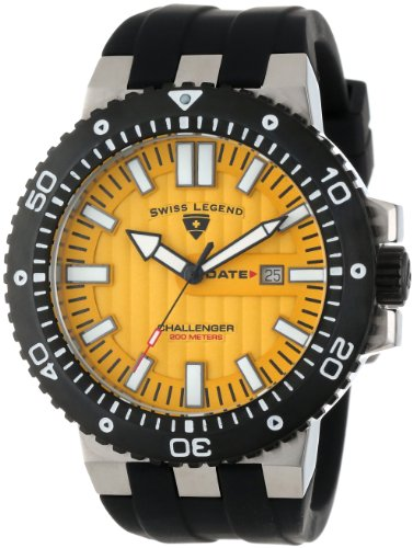 SWISS LEGEND Challenger 10126-07-BB 50 Stainless Steel Case Rubber Anti-Reflective Sapphire Men's Quartz Watch
