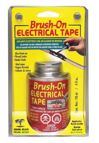 North American Bot55Tri Black Brush-On Electrical Tape - 4 Fl. Oz.