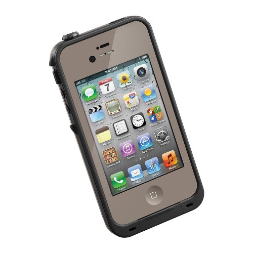 Lifeproof Case For Iphone 4/4S - Retail Packaging - Dark Flat Earth/Black
