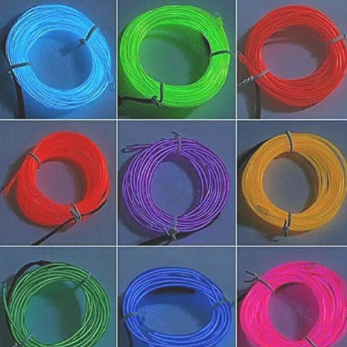 Domire Portable El Wire 10 Feet Long Purple