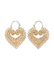 Amethyst By Rahul Popli White Gold Plated Dangle & Drop Earrings