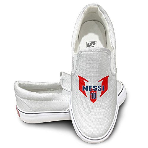 PTCY NO.10 Messi Slip-on Unisex Flat Canvas Shoes Sneaker 41 White