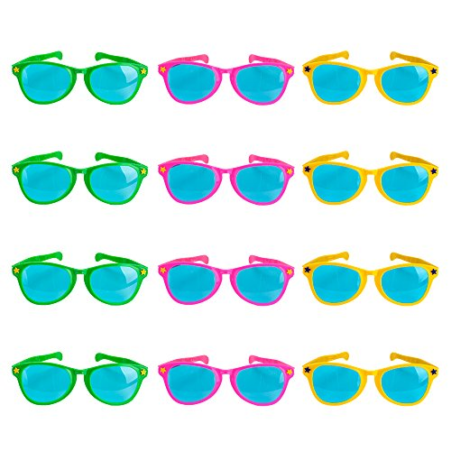 "Lot of 12 11"" Jumbo Sunglasses by Pudgy Pedro's Party Supplies"