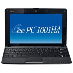 Asus Eee PC 1001HA 25,7 cm (10,1 Zoll) Netbook (Intel Atom N270 1.6GHz, 1GB RAM, 160GB HDD, Intel GMA 500, XP Home) schwarz