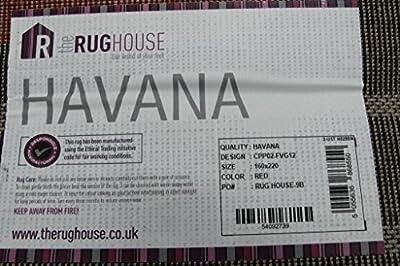 Modern Soft Stylish Red & Black Geometric Print Living Room Carpet Rugs - Havana 5 Sizes Available