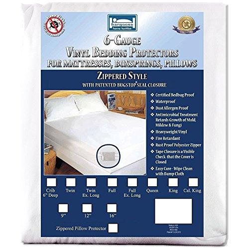 Full (9 in. Deep) 6 Gauge Vinyl Zippered Hypoallergenic, Waterproof, Certified Bed Bug Proof Mattress Encasement (Mattress Encasement Full Size compare prices)