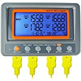AZ Instruments 4 Channel K Type Thermometer SD Card Data Logger Thermocouple Temperature
