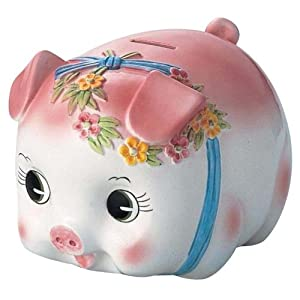 Piggy Bank Pig Piggy Bank Extra Large S 59a Pink Japan Import Toys Games