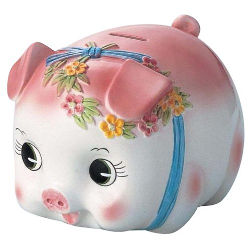 Piggy bank pig piggy bank (Extra Large) S-59A Pink (japan import) - 1