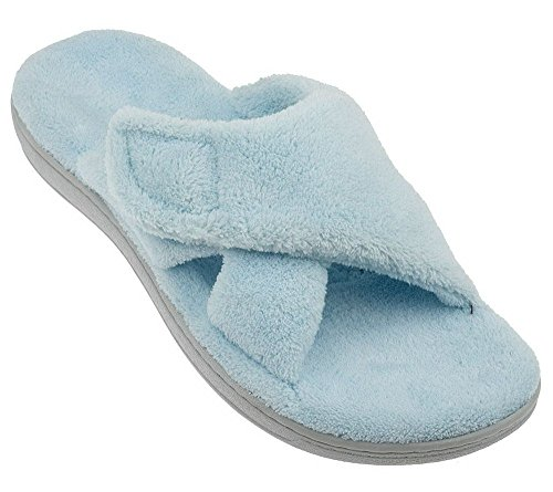 Orthaheel Womens Relax Slippers In Light Blue Size 8