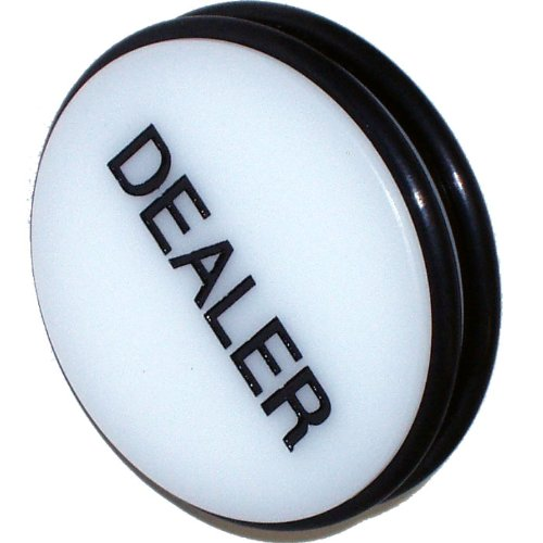 Review Trademark 3-Inch Dealer Puck Button (White)