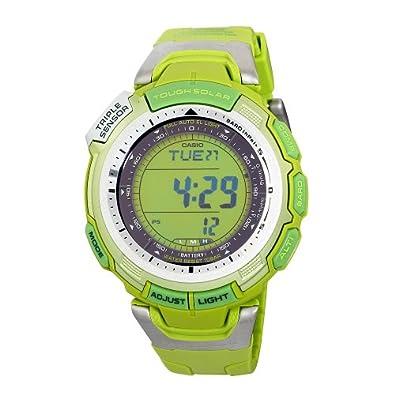 Casio Men's PAG110C-3 Pathfinder Solar Eco-Green Digital Watch