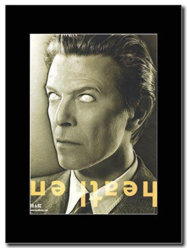 David Bowie-Heathen Magazine Promo su un supporto, colore: nero