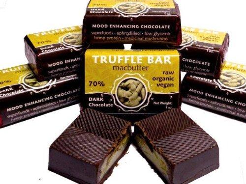 Medicinal Foods - Dark Chocolate Truffle Bars (Macnut Butter)- Herbal Organic Handmade Chocolate