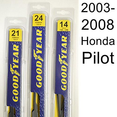 Honda Pilot (2003-2008) Wiper Blade Kit - Set Includes 24