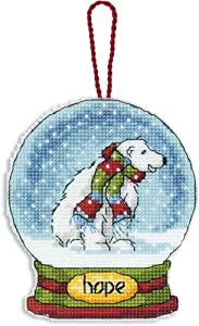 Dimensions Crafts Counted Cross Stitch Ornament, Hope Snow Globe